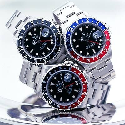 A gaggle of Rolex GMT Master II