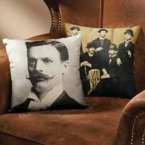 "Get your old vintage photos out of the drawer! Put them on a pillow. Exposures Online reproduces it on a fine linen pillow. 14""x14"", your photos are carefully reproduced in B&W or sepia tones & has zipped cover. A novel way to treasure your heirloom photos. $39.95"