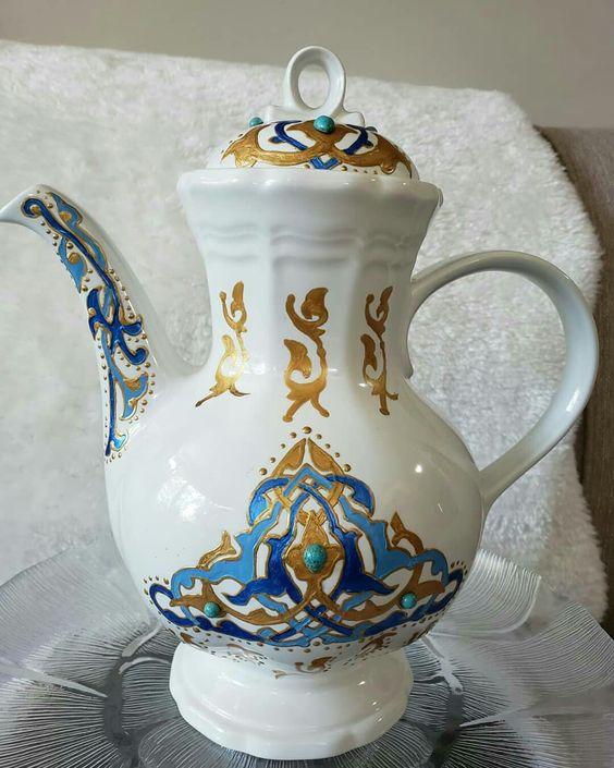 من اعمالي فاطمة عبد الغفور Tea Pots Porcelain Teapot Porcelain
