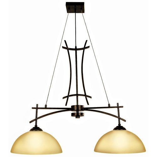 Sentinel Venetian Bronze Two-Light Island Light Bellacor $326.40