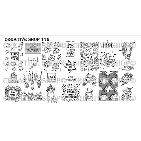 COMING SOON Creative Shop- Stamping Plate- 116