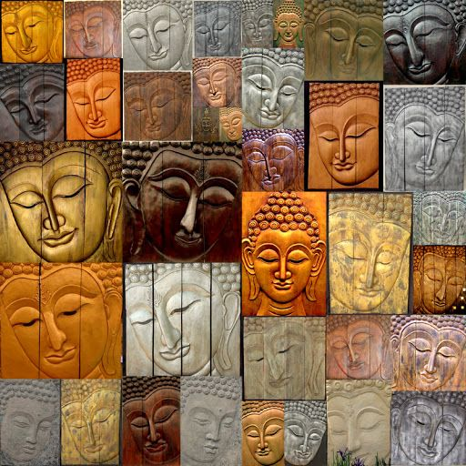 The Many Faces of Buddha remind me to express my true self as I go about my day. What face do you present to the world? It's what I am meditating on today. ~~ Houston Foodlovers Book Club