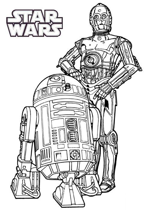 R2 D2 Coloring Pages For Star Wars Fans Com Imagens