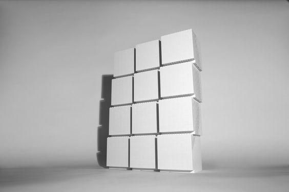 Lego sculpture - twelve cubes