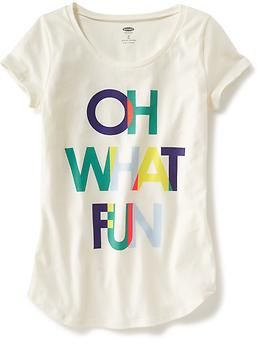 Short-Sleeve Graphic Tee for Girls | Old Navy