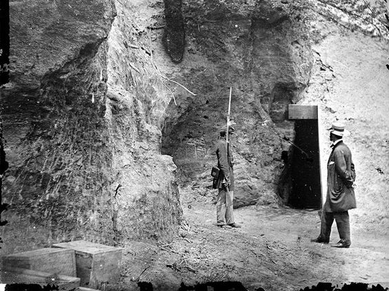 Cornwallis' cave, used as a powder magazine by the Confederates in Yorktown, VA