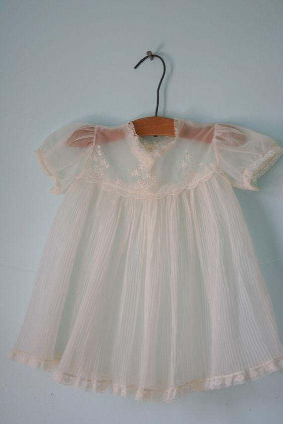 Vintage Sheer Dainty BABY DRESS