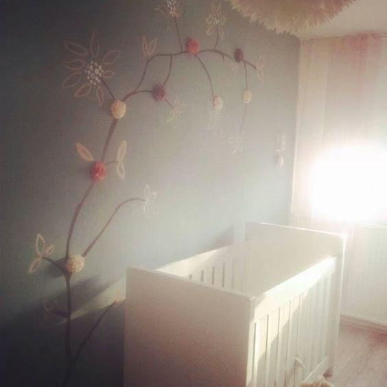 zacht groen en roze babykamer voor een meisje | kinderen, Deco ideeën