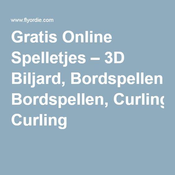 Gratis Online Spelletjes – 3D Biljard, Bordspellen, Curling