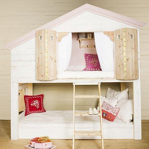 Kinderhochbett design  Hochbett für 2 Kinder :-) http://kindermoebelversand.de ...