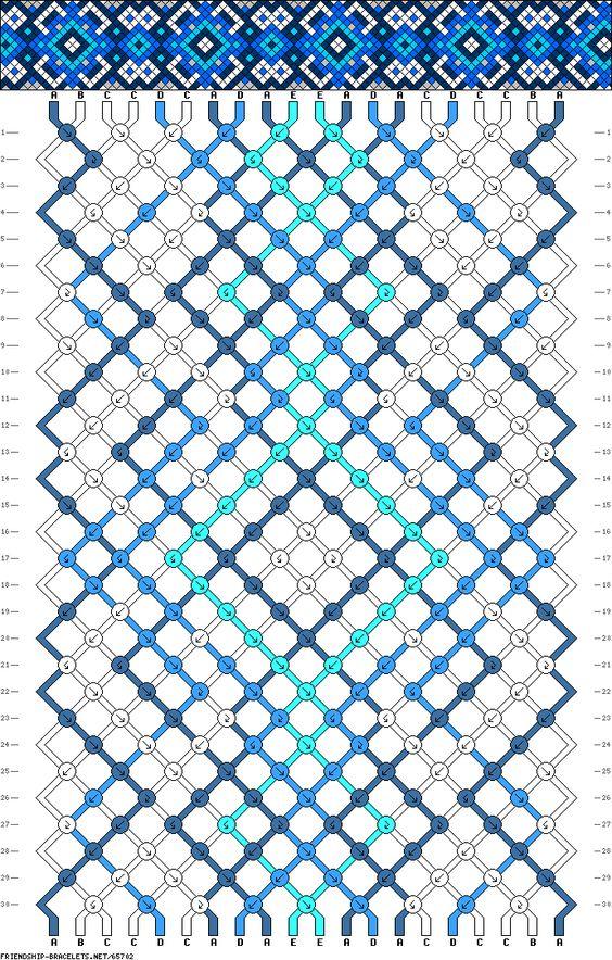 20 strings, 30 rows, 5 colors