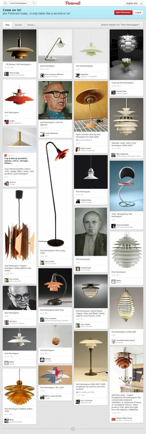 The website 'http://www.pinterest.com/search/pins/?q=Poul%20Henningsen' courtesy of @Pinstamatic (http://pinstamatic.com)