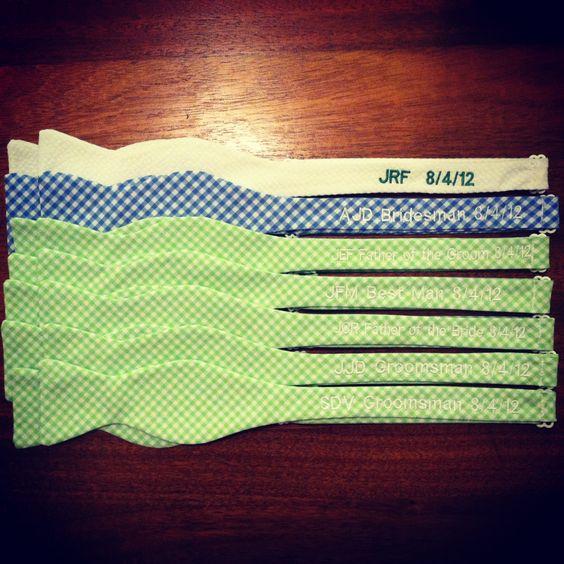 Monogrammed Wedding bow ties!