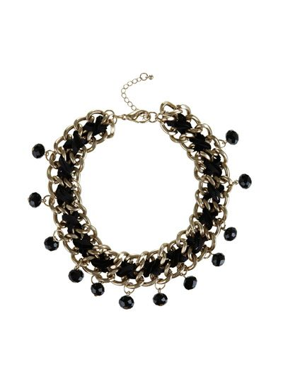 SuiteBlanco- Collar cadena hilo strass
