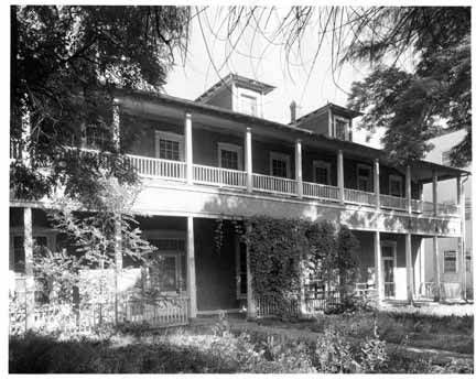Nusbaum House, Washington Avenue, Santa Fe, New Mexico, 1960. Photo by Tyler Dingee. Palace of the Governors Photo Archives 090901.