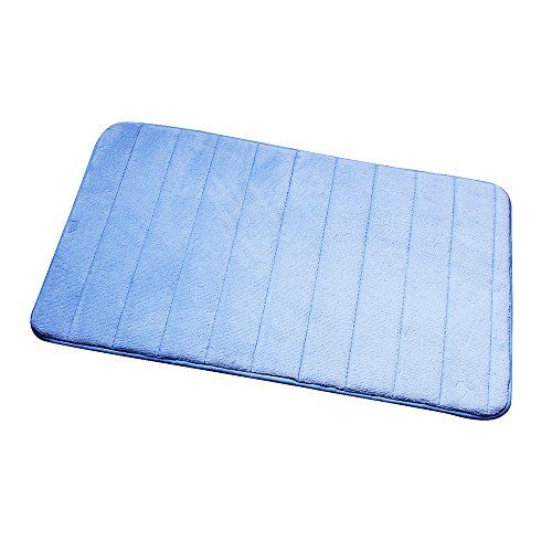Memory Foam Bath Mat Ealek Super Soft Microfiber Shag Bathroom Rug