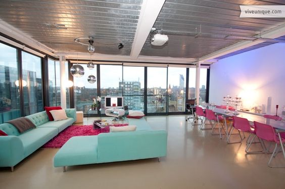 This ultra modern apartment is in the top development of the old