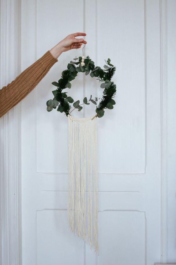 DIY : la *couronne* de *Noël* d'inspiration macramé - Carnet de printemps