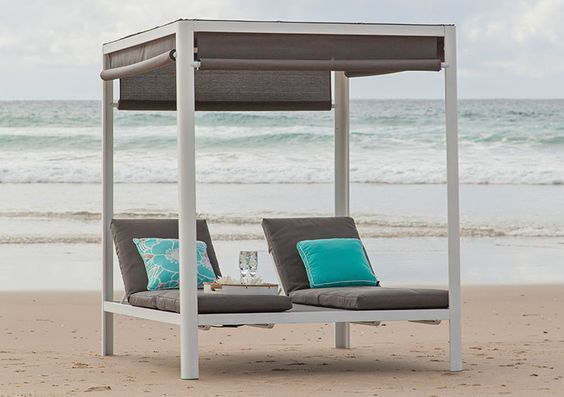 Bora bora daybed ivory titanium the outdoor furniture for Outdoor furniture specialists