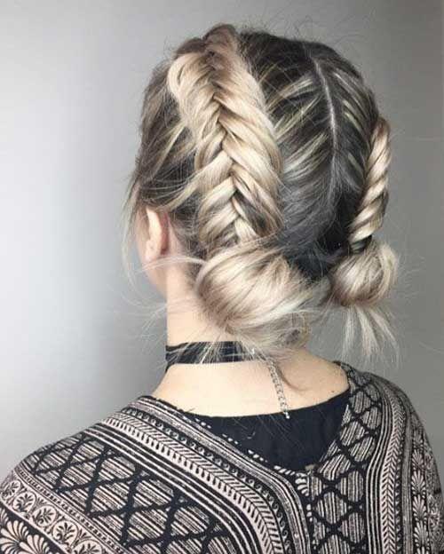 Top 11 Easy Braid Styles For Short Hair Braids For Short Hair Short Hair Updo Short Hair Styles Easy