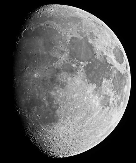 Incredibly detailed image of the Moon. A mosaic of images taken by André vd Hoeven (click through to see the 18mp version)