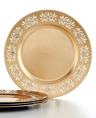 """Charter Club Lace Chargers, Fine China, 13"""". Regularly $24.00, on sale for $13.99/Set of 4 at 1.Macys.com, 10/4/15.  These are gorgeous!"""