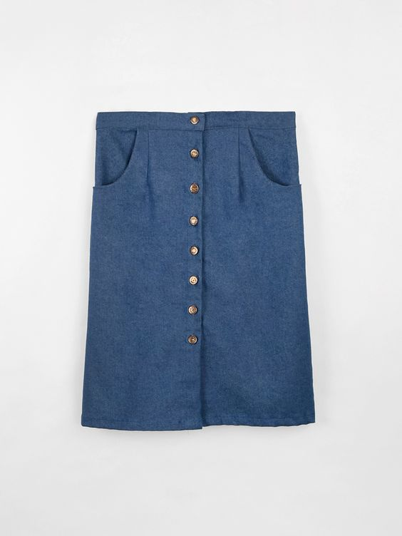 Spring Summer collection Diario de una Couturier #diariodeunacouturier #springsummer2015 #fashion  http://diariodeunacouturier.bigcartel.com/product/le-re-skirt-blue