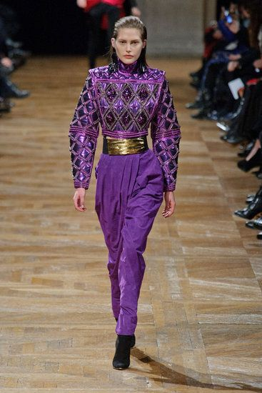 See all the looks from Balmain's Fall 2013 show. #pfw
