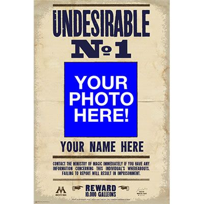 UNDESIRABLE NO. 1 CUSTOM PHOTO POSTER