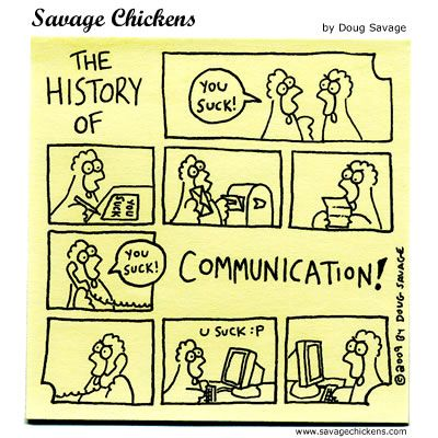 Cartoons About Communication | Savage Chickens - The ...