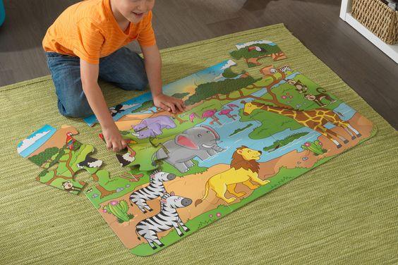 Venda Kidkraft / 24175 / Jogos de desenvolvimento e puzzles / Puzzle safari 24 peças