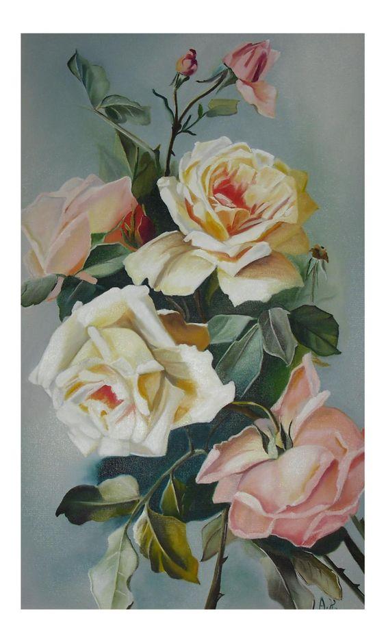 Rosas  Pintura a óleo
