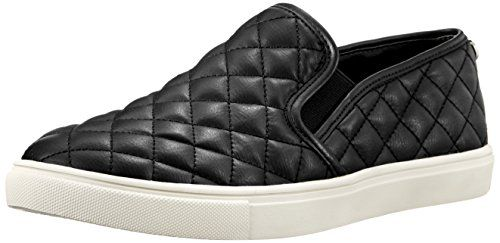 Steve Madden Women's Ecentrcq Slip-On Fashion Sneaker,Bla...