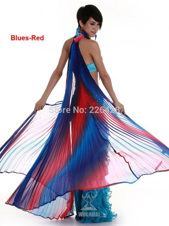 NOUVELLE Danse Du Ventre Costume Vêtements 360 Isis Ailes Coloré 6 Couleurs…