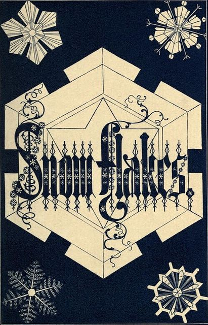 Ready for winter? Check out some beautiful snowflakes from ILLUSTRATIONS OF SNOWFLAKES (1863)