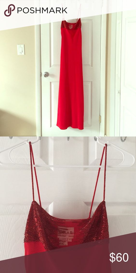 Long red dress Gorgeous red dress, size 4 or Small for a wedding or new years eve Dresses Maxi