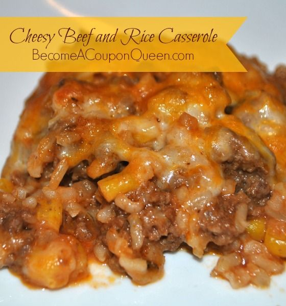 Cheesy Beef and Rice Casserole  I'd use my mums lasagne base then follow the rest of the recipe