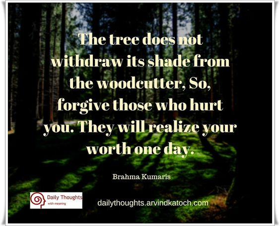 Brahma Kumaris Positive Thinking Quotes: Trees, Daily Thoughts And Forgiveness On Pinterest