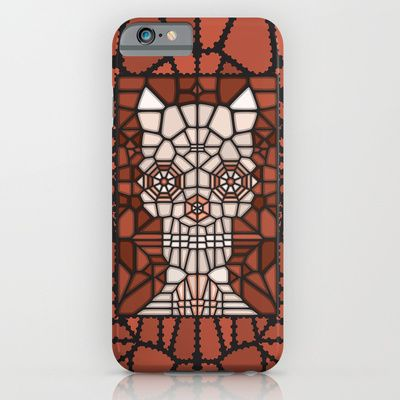 Abstract demon skull. Vector illustration created with voronoi diagrams.