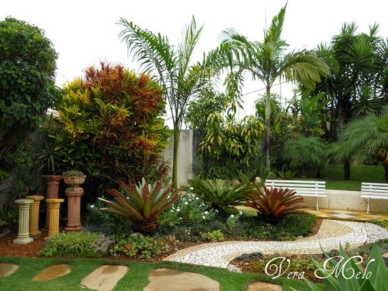 Tropical front yard landscaping ideas tropical landscape landscape ideas pinterest - Front garden ideas tropical ...