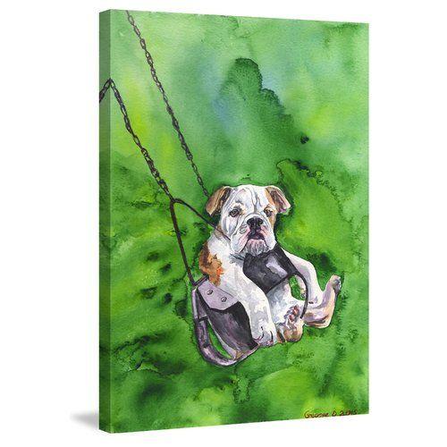 East Urban Home American Bulldog Puppy By George Dyachenko