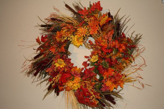 Fall Harvest Wreath by jaimeomeish on Etsy, $60.00