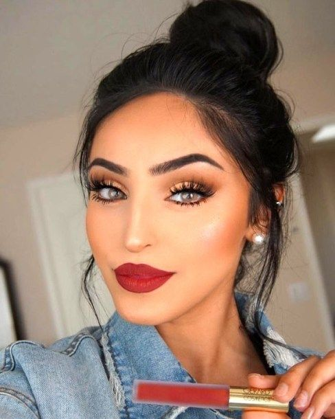 Pretty Makeup Ideas With Red Lipstick 15 Red Lips Makeup Look Red Lip Makeup Red Dress Makeup