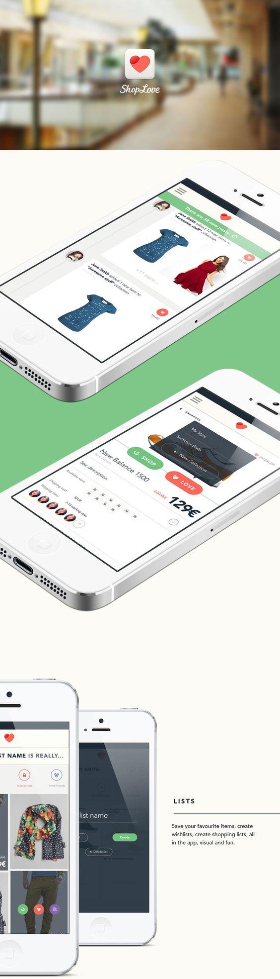 ShopLove UI design