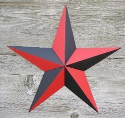 Red/Black Nautical Star by American Tin Star Co.