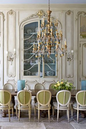 #table and green chairs...: