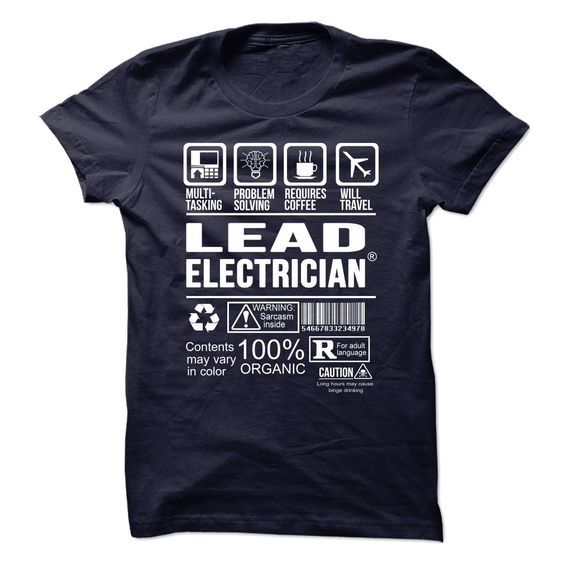 LEAD ELECTRICIAN Multi Tasking Problem Solving T-Shirts, Hoodies. Get It Now ==> https://www.sunfrog.com/No-Category/LEAD-ELECTRICIAN--Multi-tasking.html?id=41382