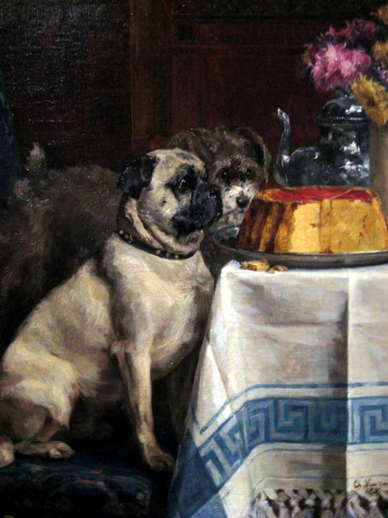 Pug Dog Cake | Willpower 1891 by Charles van den Eycken » nonahyytinen.com