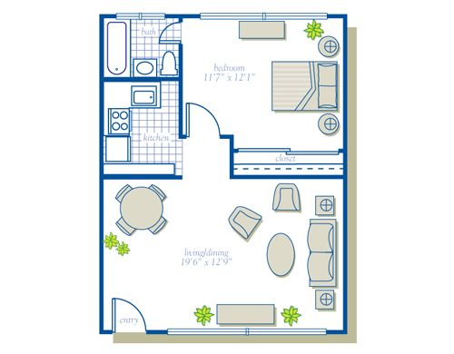 500 sq ft house plans source more bedroom bath sq ft see other floor plans from - 500 sq ft apartment floor plan ...