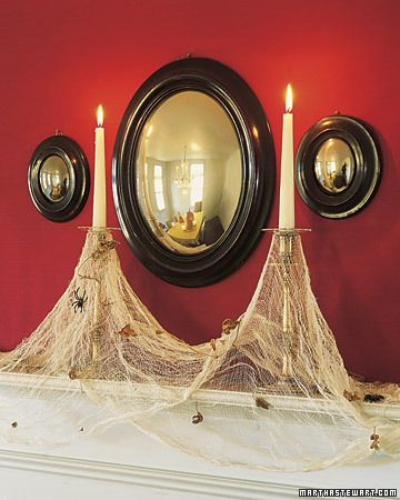 spiderweb and candles
